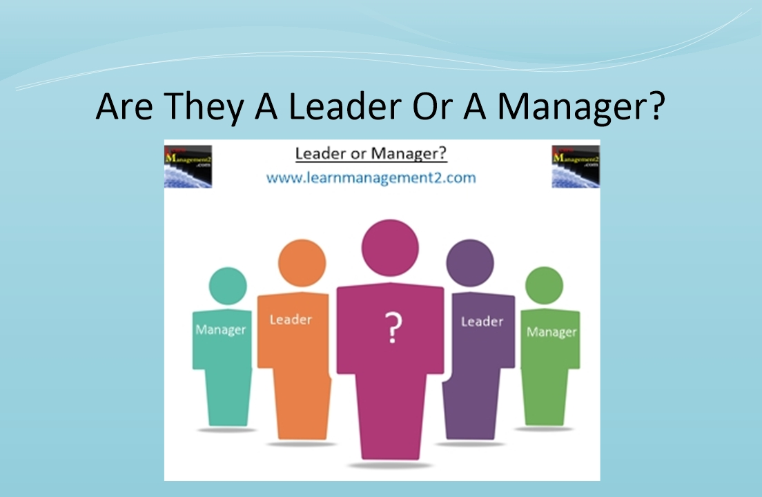 Is it a leader or a manager diagram?