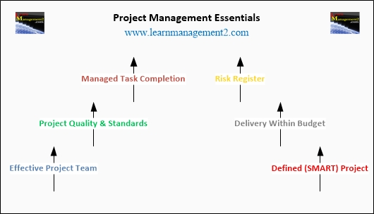 Project Management Essentials Diagram